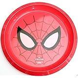 Niños plástico Vajilla–Marvel–de los Vengadores Spiderman–Plato, Cuenco, vaso con pajita y tapa