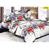 Comforter - Double Bed Luxurious Comforter Set - 4 Pc Set (1Comforter + 1 Double Bedsheet + 2 Pillow Cover)
