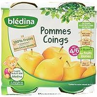 Blédina Pots Fruits Pommes Coings dès 4/6 Mois 4 x 130g -