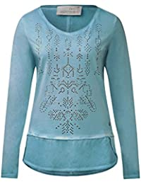 CECIL Damen Langarmshirt im Materialmix