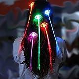 jysport Lichtwellenleiter Light bis Haar LED Flashing Hair Clip Extensions Multicolor Haarspangen, Led hair braids 7PCS