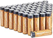 Amazon Basics - Batterie alcaline AA 1.5 Volt, Performance, confezione da 48 (l'aspetto potrebbe variare dall'