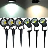 LED Gartenstrahler Erd-Spieß IP65 Wandspot Außen-Lampe Terrassen-Leucht 3W 5W 7W (Warm White, 3W)