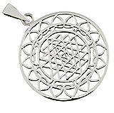 AFP Anhänger Sri Yantra heilige Geometrie 925 Sterling Silber AS-318