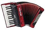 Hohner a16531s Bravo línea Facelift II -48cromática Bass Piano acordeón (con funda, color rojo
