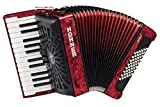 Hohner a16531s Bravo Line Facelift II 48Bass Chromatische Piano Akkordeon mit Gigbag, rot