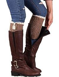 Hiver Femmes dentelle stretch Boot Cover,Fami Jambières Manchettes Boot Socks