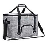 Srotek 45L Kühltasche Kühlbox Thermotasche Isoliertasche Wasserdichte tragbare Picknicktasche Campingtasche Umhängetasche Kühlkorb für Ausflug/Picknick/Camping/BBQ 50x30x30cm