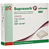 Suprasorb P Silicone Schaumverband Border 7,5x7,5 cm, 5 St preisvergleich bei billige-tabletten.eu