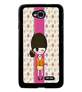 PrintDhaba Cute Doll D-5858 Back Case Cover for LG L90 (Multi-Coloured)