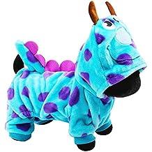 nalmatoionme Cartoon Disfraz De Puntos perro sudadera con capucha chaqueta de mascotas Cachorro Prendas de vestir traje de terciopelo cálido