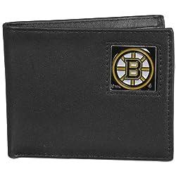 NHL Boston Bruins Genuine Leather Bi-fold Wallet