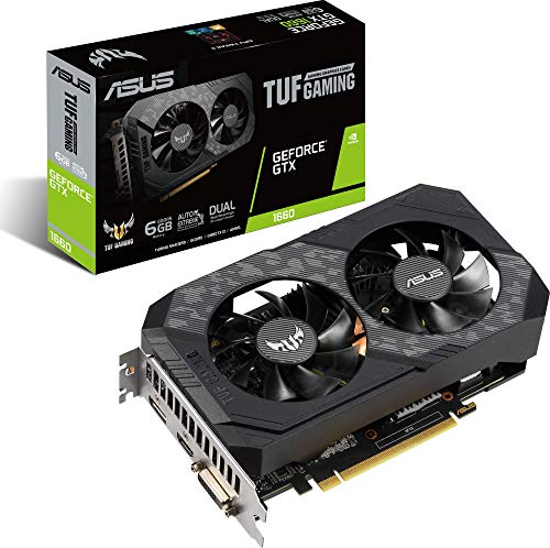 ASUS TUF Gaming GeForce GTX 1660 Grafikkarte - 6GB GDDR5, 1x DisplayPort / 1x HDMI / 1x DVI