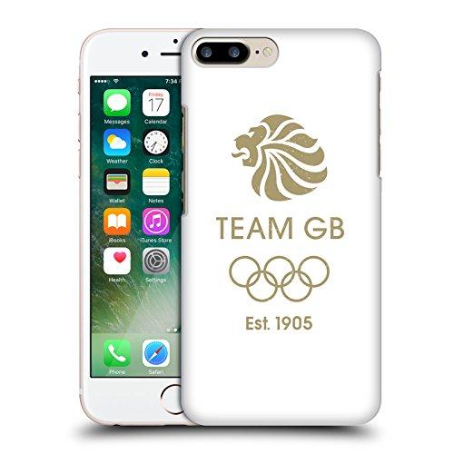 Official Team GB British Olympic Association EST Gold on Black Logo Hard Back Case for Apple iPhone X EST Oro