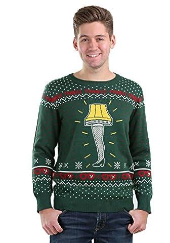 Christmas Story Leg Lamp Ugly Christmas Sweater Small