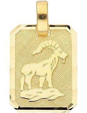 Gold 8 k ( 333 ) Sternzeichen Anhänger - Steinbock - B. 11,8 mm - H. 15,5 mm