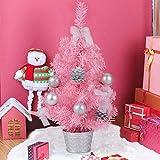 1b6ea65eed3 Fansport Mini Rosa Árbol de Navidad 17.7in Árbol de Navidad Creativo  Artificial Miniatura Árbol de