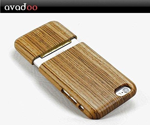 avadoo® iPhone 6 Holz Case Kirschholz Schutzhüllen Cover für das iPhone 6 - avadoo® Echt Holz Case Schutz für iPhone 6 Zebranoholz
