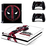 Deadpool PS4 Vinyl Skin Sticker Decal for Console & 2 Controllers NEW