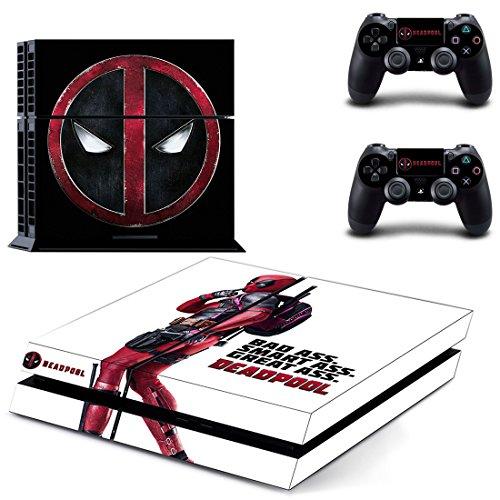 Deadpool PS4 Skin Sticker Vinyl Aufkleber Schutzfolie zum Konsole & 2 Controller NEU