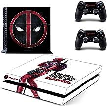 Deadpool PS4 Skin Sticker Pegatinas de la piel para la consola y 2x el mando