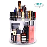 HOMEASY Kosmetik Aufbewahrung Organizer 360 Grad Drehbarer Make up Organizer Einstellbarer Kosmetikorganizer Multifunktionale Aufbewahrungsbox