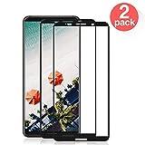 Verre Trempé pour Huawei Mate 10 Pro, [2 Pack] 2.5D Film de Protection en Verre Trempé, 3D Touch Compatible et Dureté de 9H, Ultra-Mince et Ultra-Résistant, Facile à Installer sans Bulles (Noir)