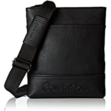 Calvin Klein Bastian Flat Crossover G, Bolsa para Hombre, Negro (Black), 6x22x26 cm (b x h x t)