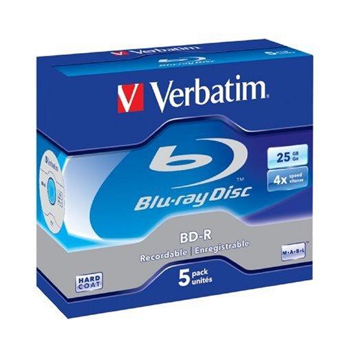 Preisvergleich Produktbild Verbatim 43688 Single-Layer BD-R 25GB 1-4 x 5er-Pack Jewelcase white blue surface