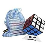 OJIN MoYu AoLong V2 Aolong Enhanced 3x3x3 Speed Cube Puzzle Puzzle Teaser Twist Puzzle Toys con una Bolsa de Cubo y un trípode de Cubo (Negro)