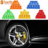 #2: orange : 19mm Silicone Hexagonal Socket Car Wheel Hub Screw Cover, Nut Caps Bolt Rims Exterior Decoration & Protection