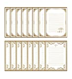 Funcoo 64 Sheet Cute Vintage Retro Lovely Design Writing Stationery Paper Letter Set(2 Different Style) (White)