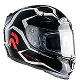 Hjc R-pha 10 Plus Aquilo Mc-5 Helm, Farbe schwarz-weiss, Größe M (57/58)