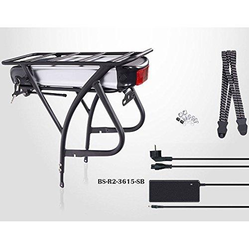"E-Bike Pedelec Akku Kit 26\""-28\"", 36V 15Ah, 540Wh (R2), Gepäckträger, Ladegerät"