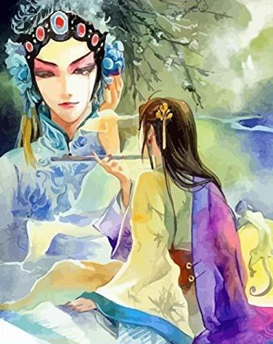 Lucellgh DIY Digitale Malerei Öl Alten Stil Drama Schönheit Charaktere Handbemalte Dekorative Kostüme Hua Dan Aquarell Kreative Geschenke