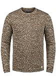 Blend Gerald Herren Strickpullover Feinstrick Pullover Mit Rundhals Und Melierung, Größe:XL, Farbe:Mocca Brown (71508)