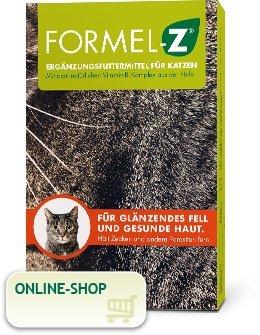 Formel Z Ergänzungsfuttermittel für Katzen Spar-Set 2x125g (104 Tabletten). Für glänzendes Fell und gesunde Haut. Hält Zecken und Parasiten fern.