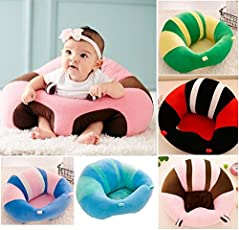 Amide by AD.COM Cotton Toddlers Training Seat Baby Safety Sofa Dining Chair Learn to Sit (Color May Vary)