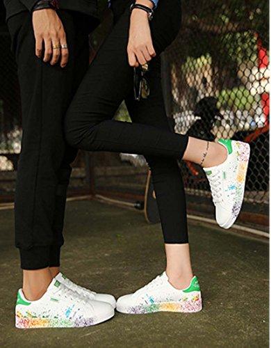 Scarpe Da Skateboard Da Uomo Basse Da Uomo Sneaker Da Donna Scarpe Sportive Casual Stringate Scarpe Da Tennis Green