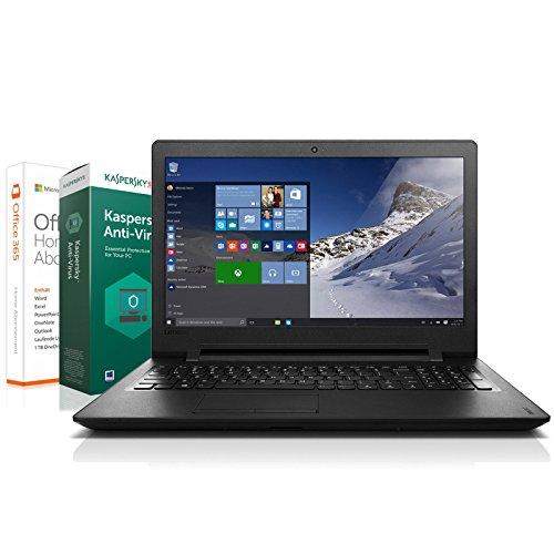 Preisvergleich Produktbild Lenovo 110-15ACL Notebook (15,6 Zoll) - Quad Core - 4x 1.80 GHz - 4 GB RAM - 500 GB Festplatte - HDMI - Windows 10 Pro - AMD R2 Grafik - HD-Webcam + Kaspersky 2017 + Office 365 Home + Notebooktasche