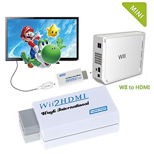 CFY Wii-zu-HD-TV/HD 720P / 1080P WII zu HDMI Konverter Ausgang Video Audio unterstützt alle Wii Display-Modes Adapter Ausgang Display