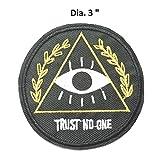 Trust No One Logo brodé patchs à coudre ou thermocollant Patch X-Files Série TV Thème de l'espace et UFO ventilateurs U-sky par Athena marques