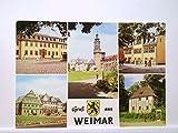 AK Weimar/Gruß aus....Mehrbildkarte mit Goethehaus, Schloß, Schillerhaus,Stadthaus und Lucas-Cranach-Haus und Goethes Gartenhaus, Ungelaufen.