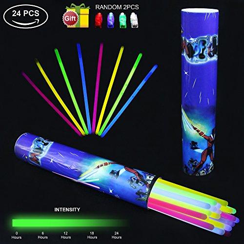Preisvergleich Produktbild Light Sticks KYC 2430,5cm Light Up Glow Sticks barcelets- Play in Party gemischt Farben Supplies (Tube von 24)