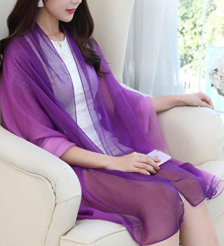 Sommer Damen Chiffon Sarong Pareo Wrap Wraps Schal Schals Wickel Sonnenschutz Schal Kleid color12