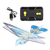 Dilwe Uccello RC, 2.4GHZ Telecomando Giocattolo E-Bird Ornithopter Giocattoli Volanti di Volo Uccello(blu)