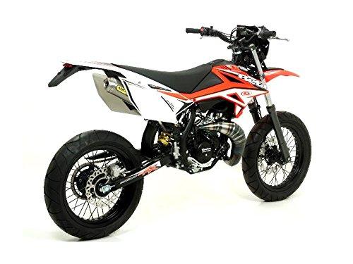 Enddämpfer Arrow Linie All Road 2T, Enddämpferaußenhülle ausTitan, für Beta RR 50cc Enduro/Super Biker (ab 2012)