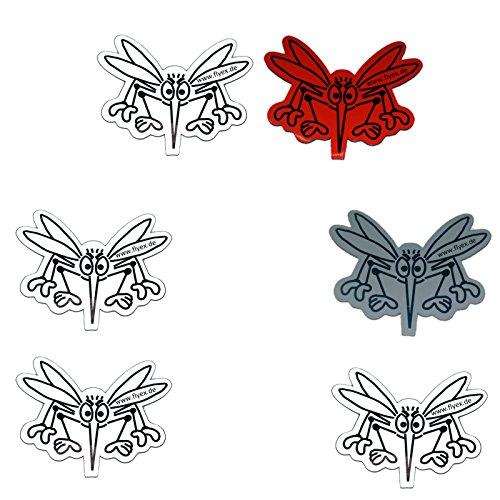 3er Set Durchlaufschutz Magnet Aufkleber für Fliegengitter als Sticker Magnet Klebebild Insektenschutz Mückenschutz Gem.
