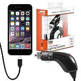 Orzly® CHARGE 'N' GO (V2) - iPhone Auto-Ladegerät - Tragbare In-Car-Ladekabel mit Flexi-Lead und Auto-Zigarettenanzünder (Geeignet für den Einsatz mit: iPhone 5, iPhone 5S, iPhone 5C, iPhone 6, iPhone 6 Plus)