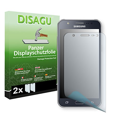 Samsung Galaxy J5 (SM-J500FN) Displayschutzfolie - 2 x Disagu Panzerfolie für Samsung Galaxy J5 (SM-J500FN) Bruchschutzfolie